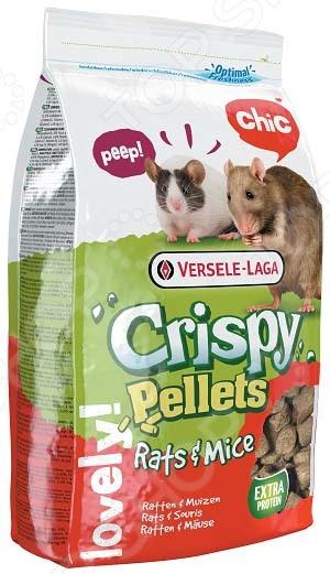 Корм для крыс и мышей Versele-Laga Crispy Pellets Rats & Mice гранулированный dirty rats