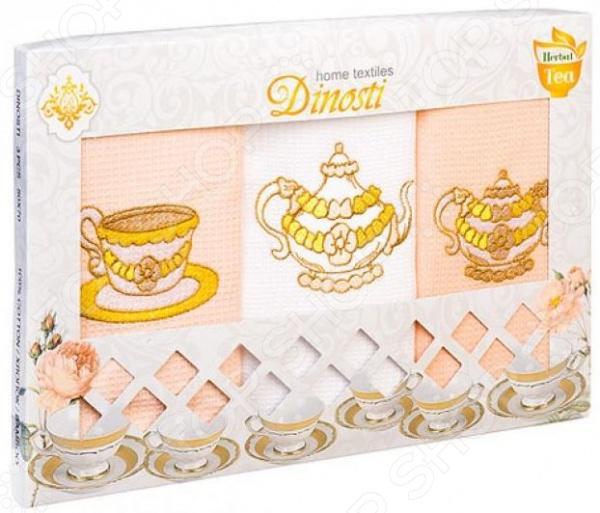 Комплект из 3-х кухонных полотенец Dinosti «Травяной чай»