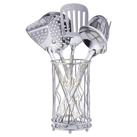 Купить Набор кухонных принадлежностей Zeidan с подставкой «Змейка»