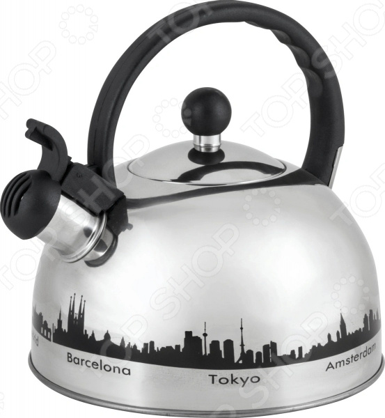 Чайник со свистком Mallony MAL-CITY-01