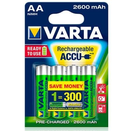 Купить Батарея аккумуляторная VARTA AA R2U 2600 мАч 4 шт.
