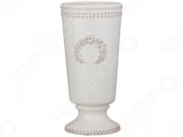 Ваза декоративная «Античный венок» 232-157 вазы pavone ваза орхидея