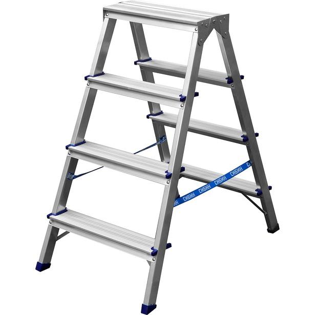 фото Лестница-стремянка Сибин 38825. Количество ступеней: 4