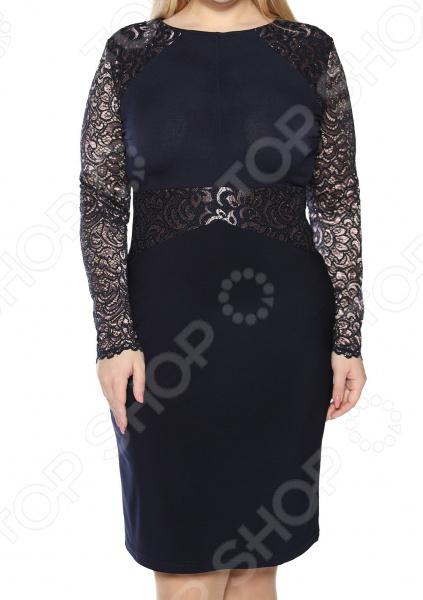 Платье ТРЕНД «Пора очарования». Цвет: темно-синий платье тренд стильный силуэт цвет бордовый