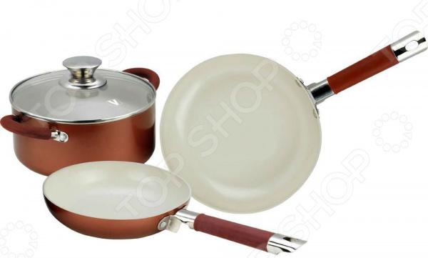 Набор кухонной посуды c внутренним керамическим покрытием Vitesse VS-2238