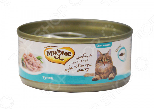 Корм консервированный для кошек Мнямс «Тунец в нежном желе» паучи для котят pcg ме о тунец в желе 80 г
