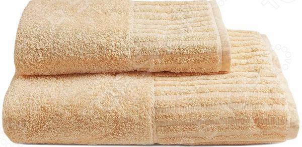 Комплект из 2-х махровых полотенец BONITA «Персик»