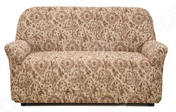 Натяжной чехол на двухместный диван Еврочехол «Виста. Флоренция»