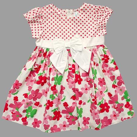 Купить Детское платье WWW Pink ribbon. Цвет: белый