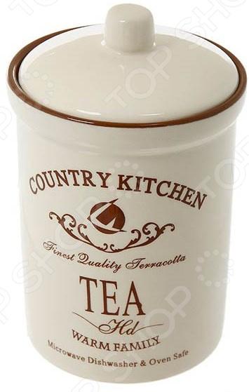 Банка для сыпучих продуктов Terracotta «Кухня в стиле Кантри» емкости неполимерные rich line home decor банка для сыпучих продуктов