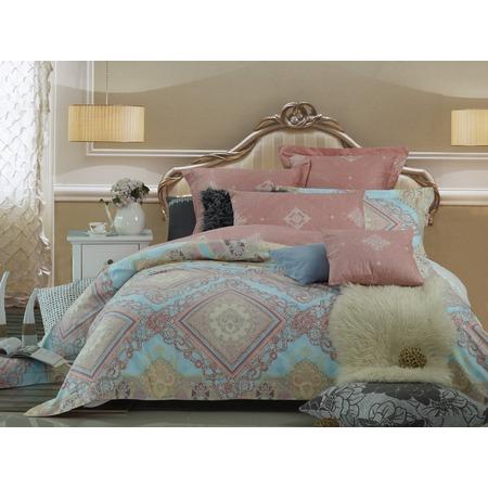 Купить Комплект постельного белья La Noche Del Amor А-589. Семейный. Цвет: розовый, голубой