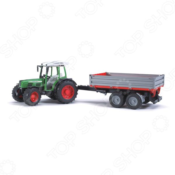 Трактор игрушечный Bruder Fendt 209 S с прицепом мир отечественных моделей трактор мтз 82 с прицепом