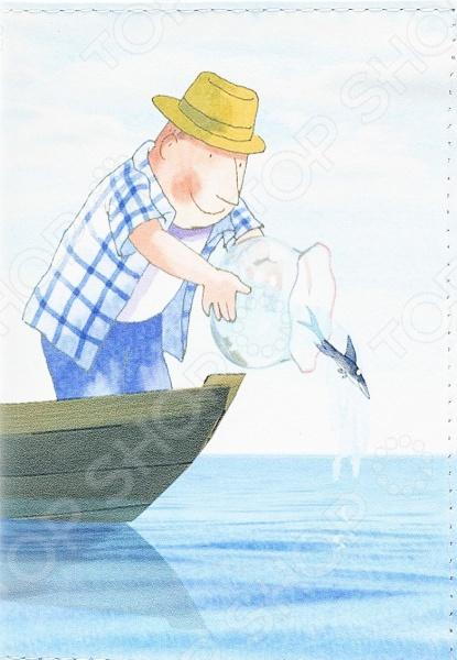 Обложка для автодокументов кожаная Mitya Veselkov «Добрый рыбак»