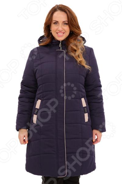 Куртка «Солнечный морозный день». Цвет: черно-синий