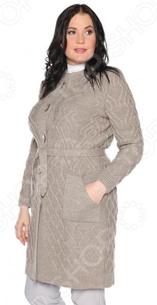 Жакет Milana Style «Душистый мед». Цвет: бежевый жакет milana style хрустальная роса цвет джинсовый