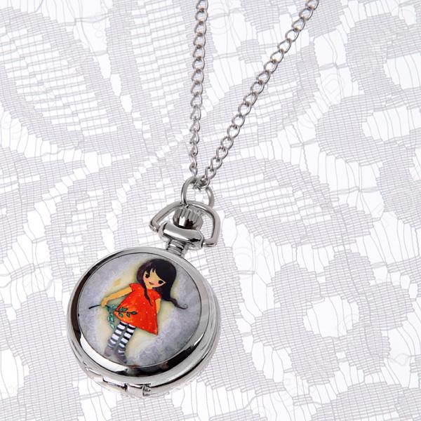 Кулон-часы Mitya Veselkov «Малышка с веточкой»