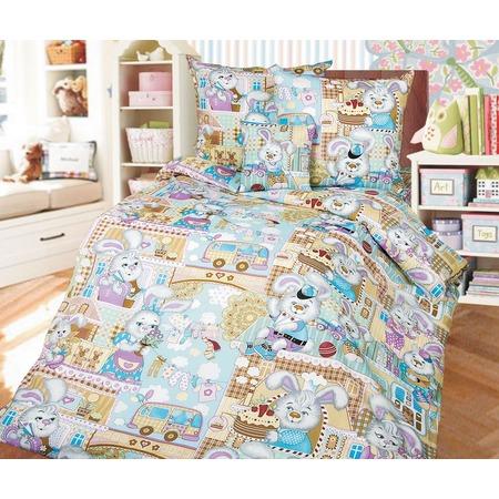 Купить Детский комплект постельного белья Бамбино «Зайкин город»