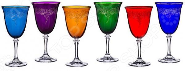 Набор бокалов для вина Crystalite Kleopatra 669-190 набор бокалов crystalex джина б декора 6шт 210мл шампанское стекло