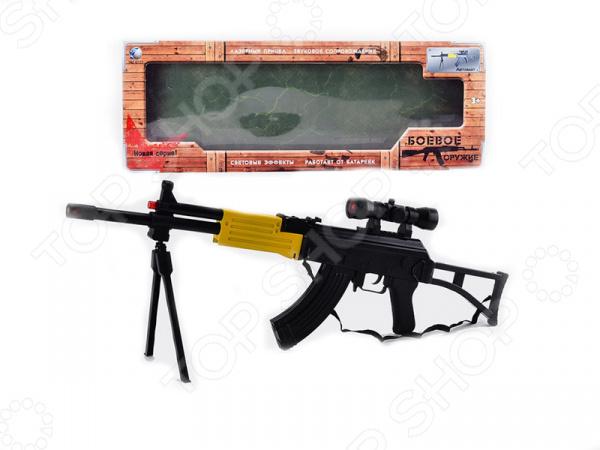 Автомат игрушечный со светозвуковыми эффектами «Боевое Оружие. AK-74»