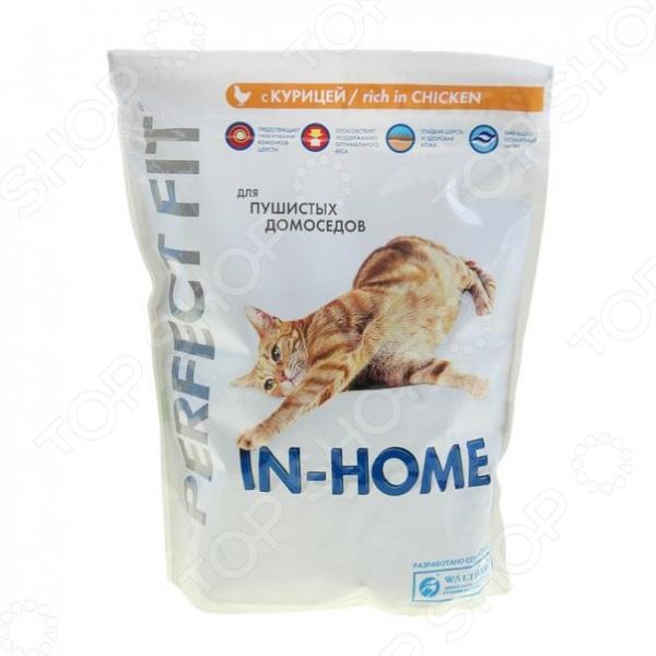 Корм сухой для домашних кошек Perfect Fit In-Home rich in Chicken