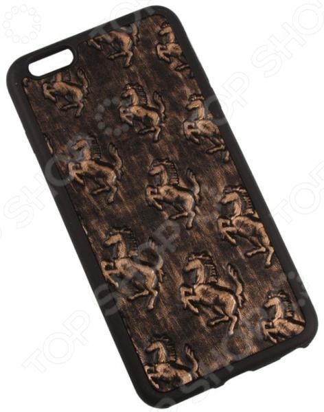 Чехол для iPhone 6/6S Plus Old «Лошади на меди»