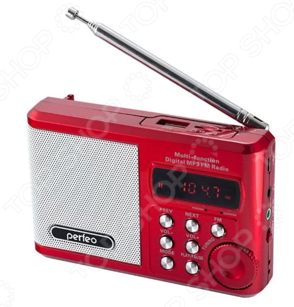 Радиоприемник Perfeo Sound Ranger SV922 портативная акустика perfeo sound ranger 2 вт fm mp3 usb microsd bl 5c 1000mah красный pf sv922 page 8