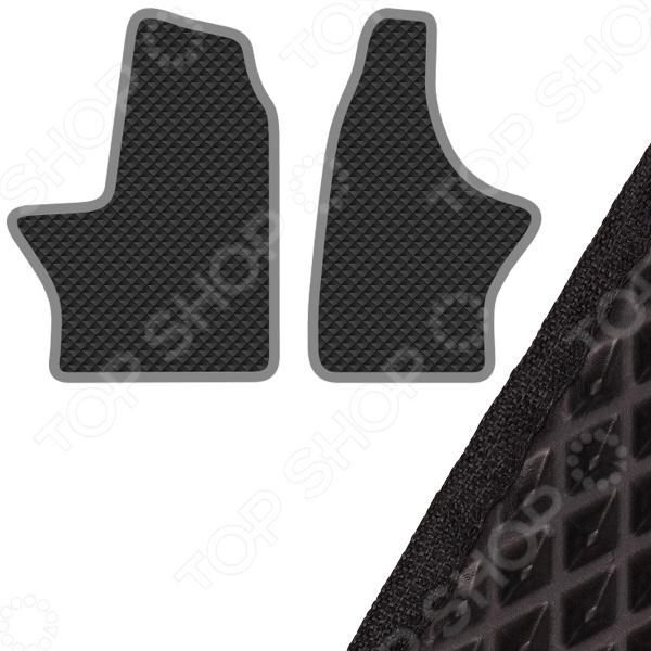 Комплект из 2-х ковриков в салон автомобиля с левым рулем SKYWAY «Газель» Next