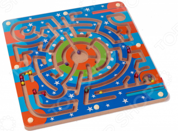 Лабиринт магнитный Bradex «Звездный путь» avenir развивающая игра деревянный лабиринт с магнитными шариками
