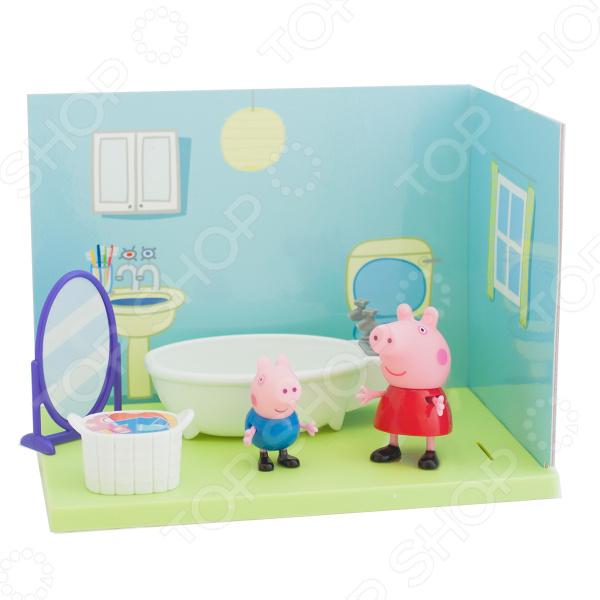 Игровой набор с фигурками Peppa Pig «Ванная комната Пеппы и Джорджа» ванная комната мди