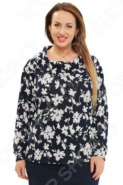 Блуза Матекс «Живые цветы». Цвет: голубой цена 2017
