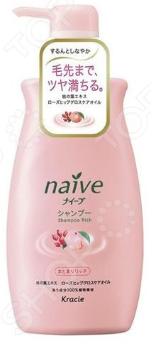 Шампунь Kracie Naive с экстрактом персика и шиповника
