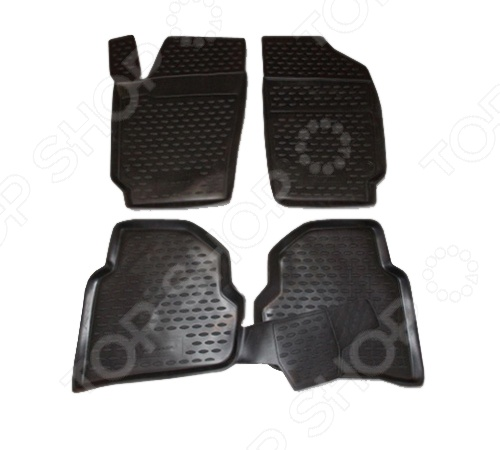 Комплект ковриков в салон автомобиля Novline-Autofamily Volkswagen Polo 2010 комплект 3d ковриков в салон автомобиля novline autofamily volkswagen touareg 2010 2015 2015