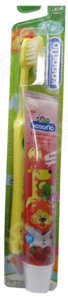 Набор детский: зубная щетка и зубная паста Kodomo «Клубника». В ассортименте Набор детский: зубная щетка и зубная паста Kodomo «Клубника» /