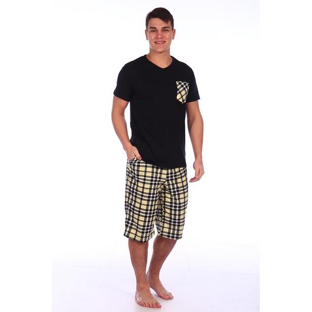 фото Комплект домашний мужской Селтекс КК319. Цвет: черный. Размер: 52