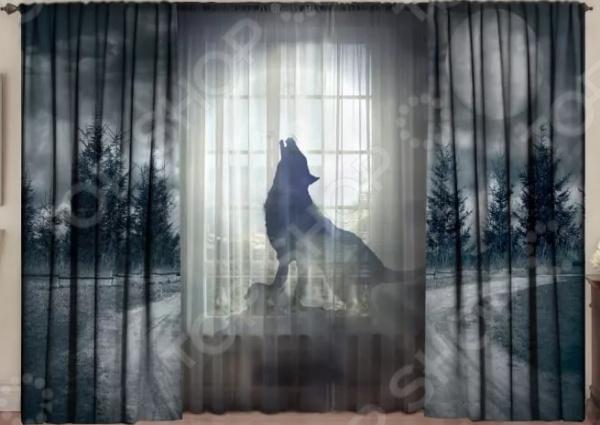 Комплект фотоштор с тюлем ТамиТекс «Лунная волчица» 1