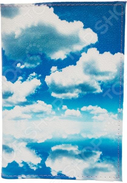 Обложка для автодокументов кожаная Mitya Veselkov «Облака»