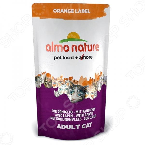 Корм сухой для стерилизованных котов и кошек Almo Nature Orange Label Adult with Rabbit