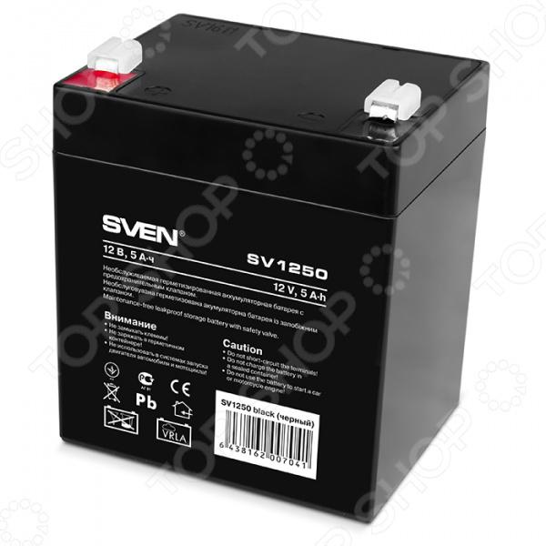 Батарея аккумуляторная Sven SV1250 батарея для ибп sven sv1290 12v 9а