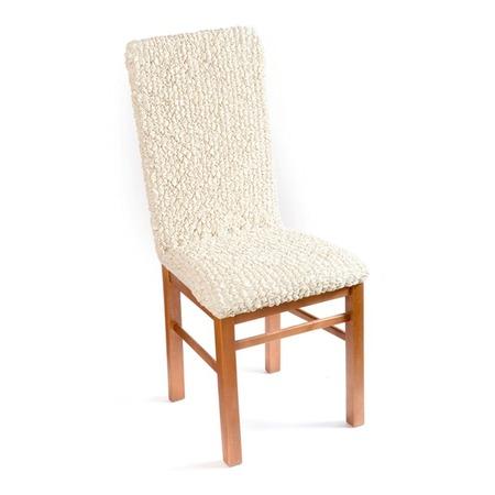 Купить Натяжной чехол на стул Еврочехол «Микрофибра. Ваниль»
