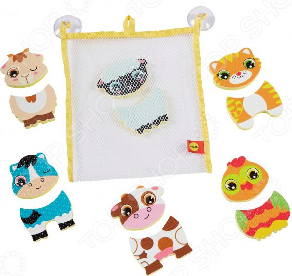Набор фигурок-стикеров для ванны Alex «Веселые животные»