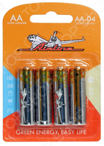 Набор батареек щелочных Airline LR6/AA набор батареек щелочных airline ag12 lr43