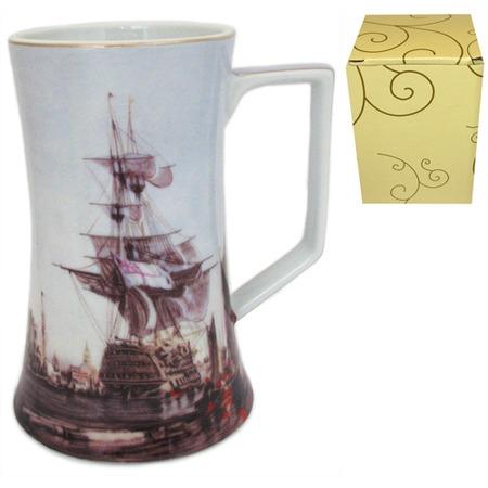 Купить Кружка пивная Elan Gallery «Морской флот»