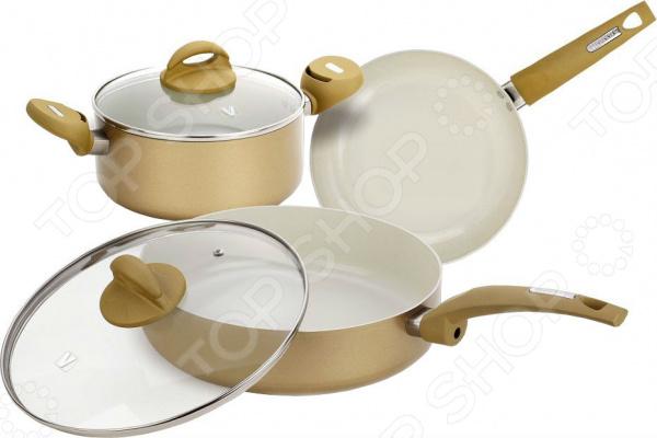 Набор кухонной посуды c внутренним керамическим покрытием Vitesse VS-2225 cami velvet slit tank top
