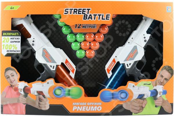 Оружие игрушечное 1 Toy Street Battle Т13652 игрушечное оружие maskbro maskbro mp002xc006ut