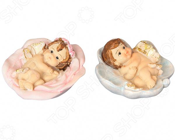 Набор декоративных фигурок Elan Gallery «Ангелочки в цветках» фигурки elan gallery набор из 4 х декоративных фигурок лисичка с лисенком