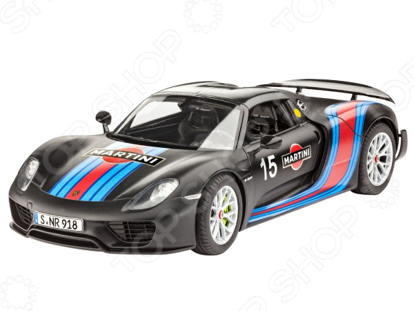 Сборная модель автомобиля Revell Porsche 918 Spyder Weissach Sport Version