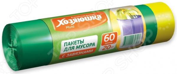 Пакеты для мусора Хозяюшка «Мила» 07006 пакеты д мусора премиум повышенной прочности 30л в пластах 20 шт 930984