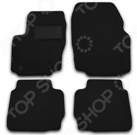 Комплект ковриков в салон автомобиля Novline-Autofamily Jaguar XF 2009. Цвет: черный
