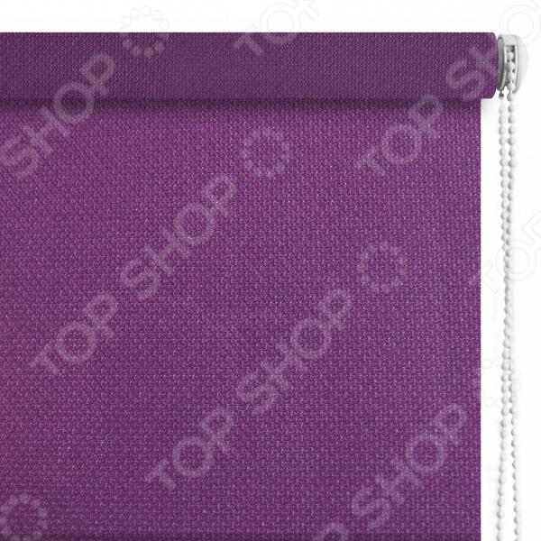 Рулонная штора Эскар «Рояль». Цвет: фиолетовый