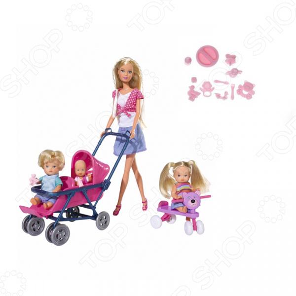 Кукла штеффи с детьми и аксессуарами Simba 5736350. В ассортименте кукла simba кукла штеффи супермодель с аксессуарами